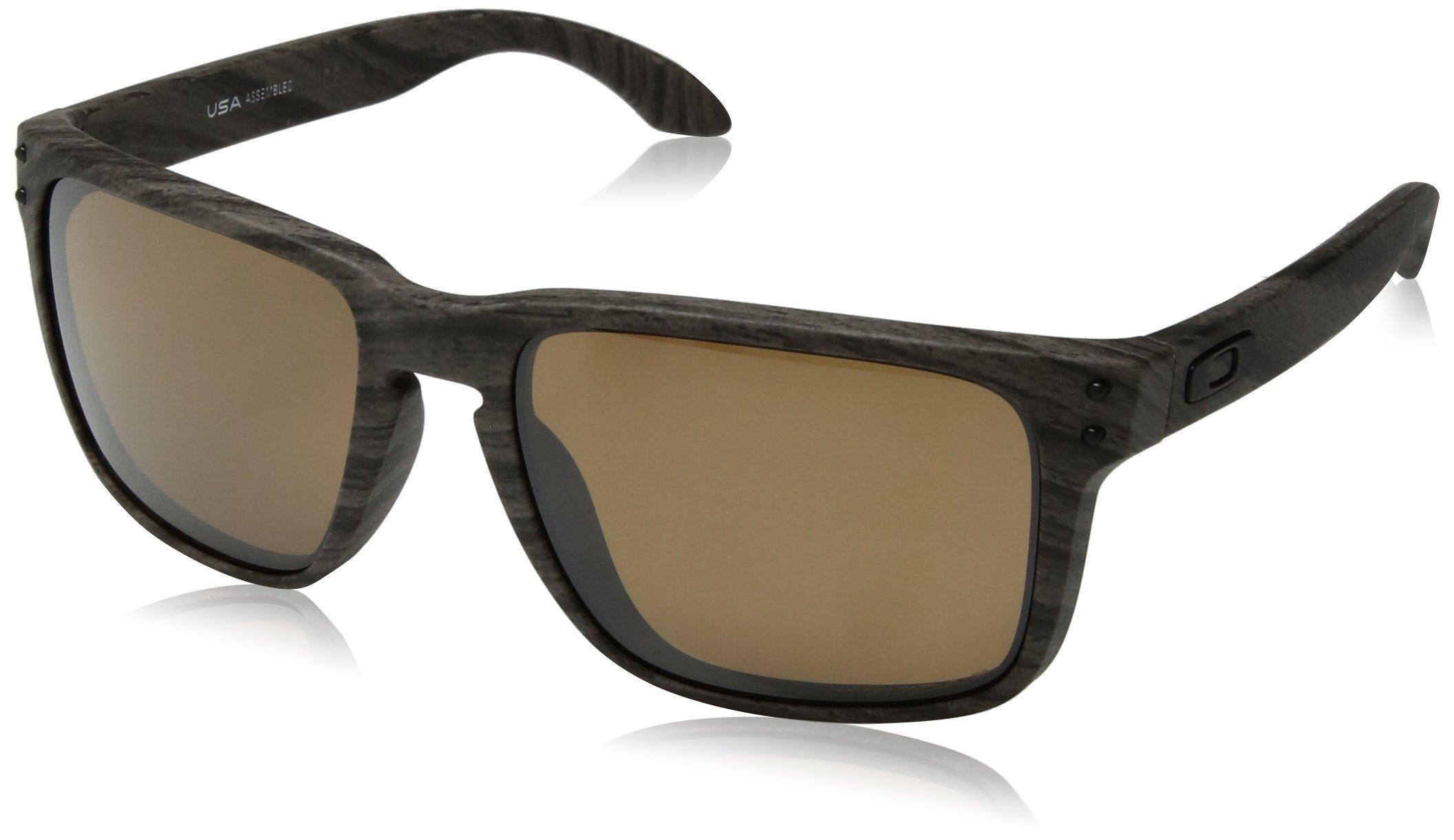 Oakley Men's Holbrook XL Polarized Iridium Square Sunglasses WOODGRAIN 59.0 mm
