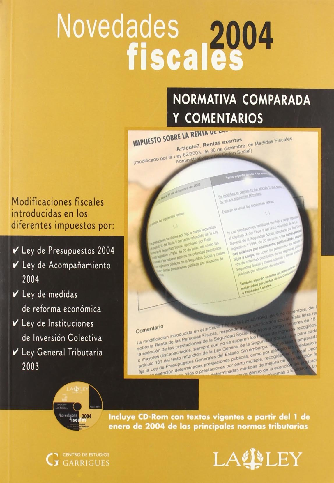 NOVEDADES FISCALES 2004.(INCLUYE CD-R). (Spanish) Paperback