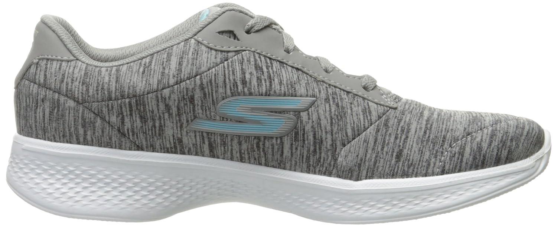 Skechers Damen Go Walk 4 - Glorify Sneakers, schwarz/weiß, 36 EU Grey/Blue Heather