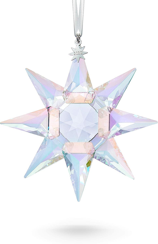Swarovski Christmas Ornament 2021 Amazon Com Swarovski 125th Anniversary Engraved Limited Annual Edition 2020 Crystal Star Ornament 4 Tall Multicolor Shimmer Home Kitchen