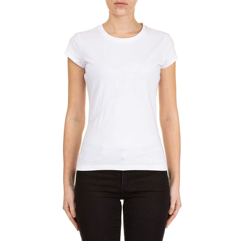 Iceberg Women's F07163091101 White Cotton TShirt