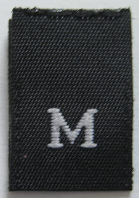 SIZE 10 TEN 25pcs BLACK WOVEN SEWING CLOTHING LABELS SIZE TAGS