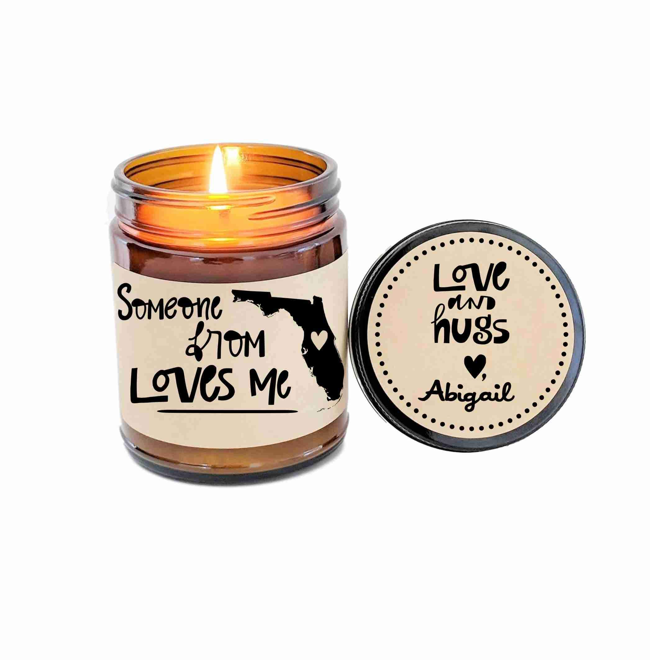 Florida Love Someone from Florida Loves Me Long Distance Gift LDR Gift Someone In Florida Loves Me Heart in Florida Gators Florida State