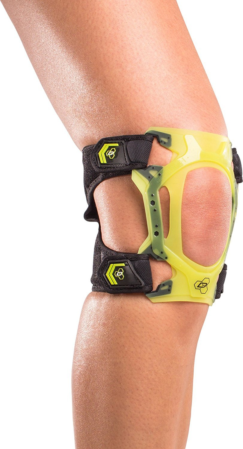 DonJoy Performance WEBTECH Short Knee Support Brace with Compression Undersleeve: Slime Green, X-Large