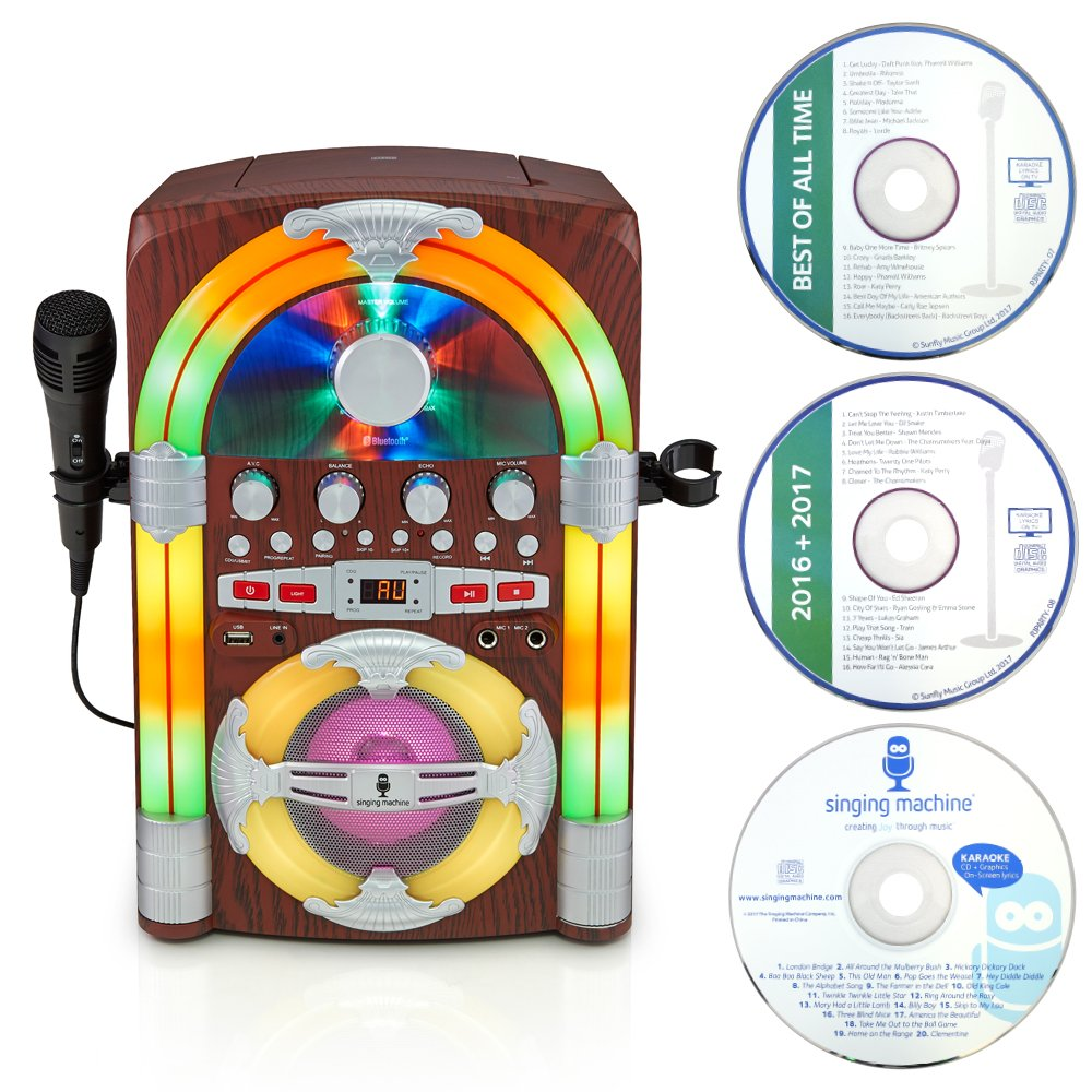Singing Machine SML645BT Jukebox Bluetooth Karaoke máquina