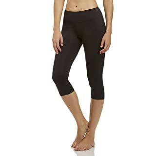 Marika Women's Carrie Slimming Capri Leggings, Black, Small