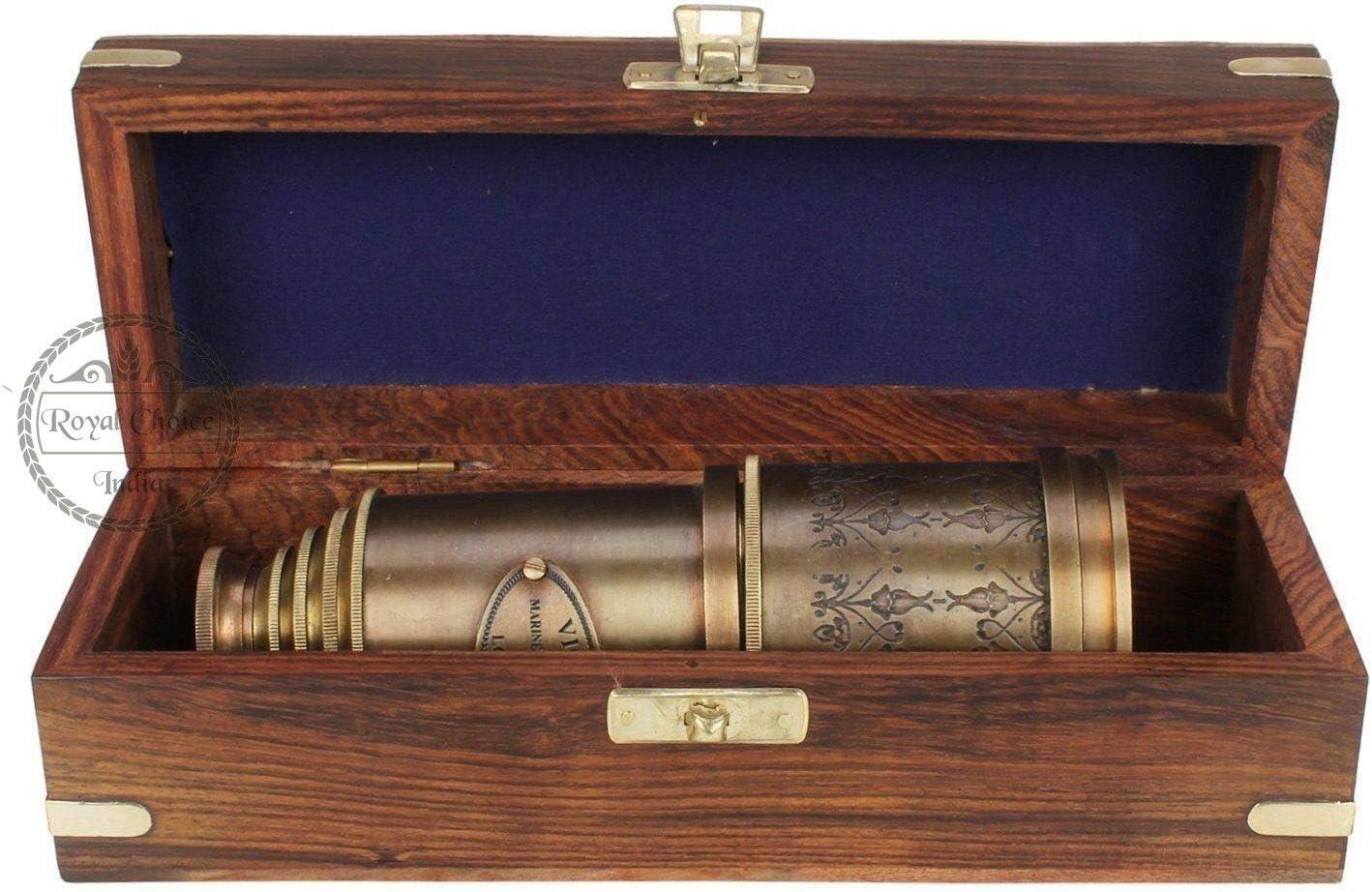 Brass Telescope Victorian 1915 Marine Nautical Hand Held Telescope 20 Inch Gift