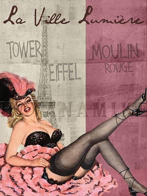 PARIS FRANCE Travel Art Photo Print Pinup Poster L/'ART DE LA BEAUTE Moulin Rouge