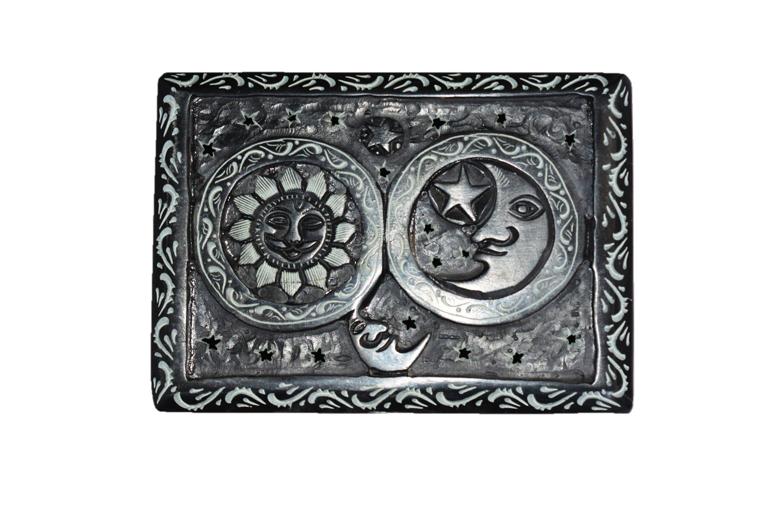 ALABASTER MARBLE Sun Moon Carved Decorative Marble Box For Jewellery Storage/Gift Box