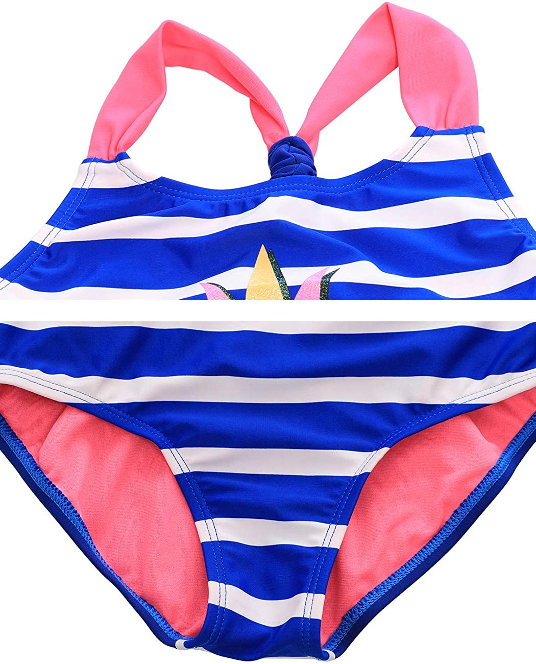 iDrawl Baby Girls Pineapple Bathing Suit Racerback One Piece Swimming Costume Swimwear