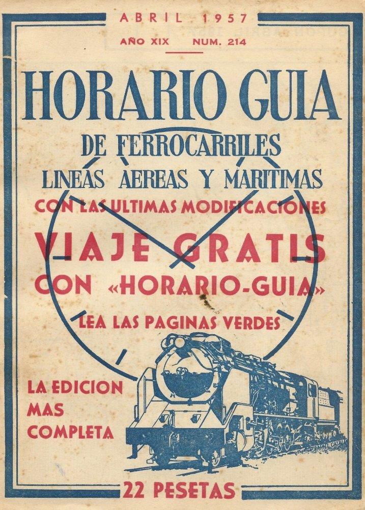 España Horario Guia De Ferrocarriles, Lineas Aereas Y ...