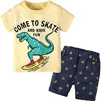 Baby Tracksuit Boys Clothing Set Outfit Short Sleeve Striped Summer Newborn T-Shirt+Shorts 2pcs