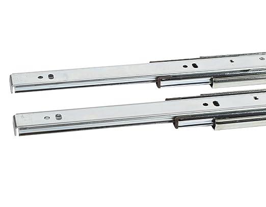 Silver 450mm 1 set New Hettich 9114275 Steel Silent System Drawer Runner