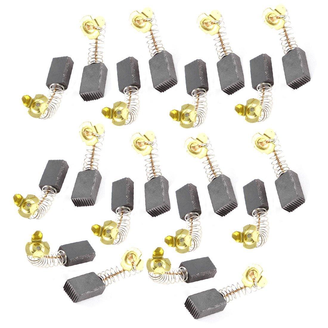 10 Paires 15.7 mm x 9.9 mm x 5, 9 mm Moteur Balais de charbon pour outil é lectrique 9mm Moteur Balais de charbon pour outil électrique Sourcingmap a13071700ux0823
