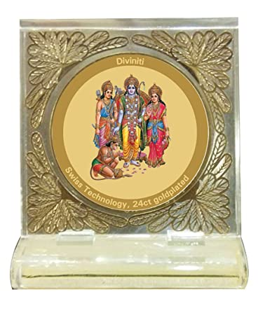 24ct Gold Plated Ram Darbar Nj Diviniti Car Frame Amazon In Car