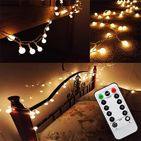 16 feet 50leds bedroom globe string lights battery powered with 16 feet 50leds bedroom globe string lights battery powered with remote timer led fairy lights outdoor mozeypictures Image collections