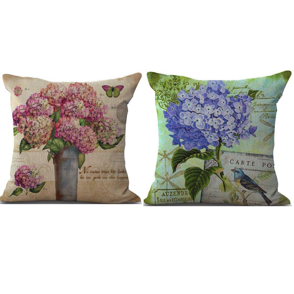 BQ Funda de almohada vintage retro flores frescas Vivid ...