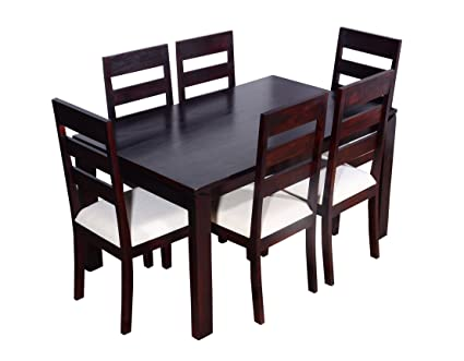 e243106447 Ringabell Desire Six Seater Solid Wood Dining Table (Mahogany Finish):  Amazon.in: Home & Kitchen