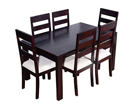 Ringabell Desire Six Seater Solid Wood Dining Table Mahogany Finish