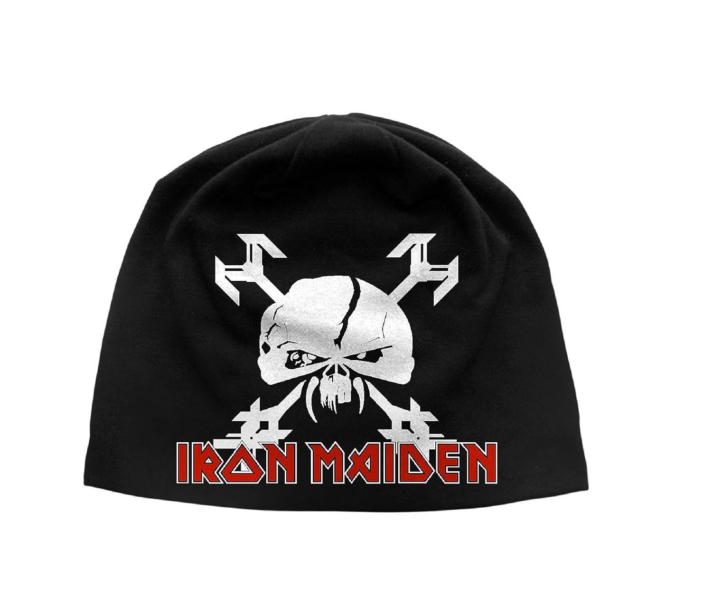Iron Maiden Beanie Hat Cap Final Frontier band logo Official New Black Jersey