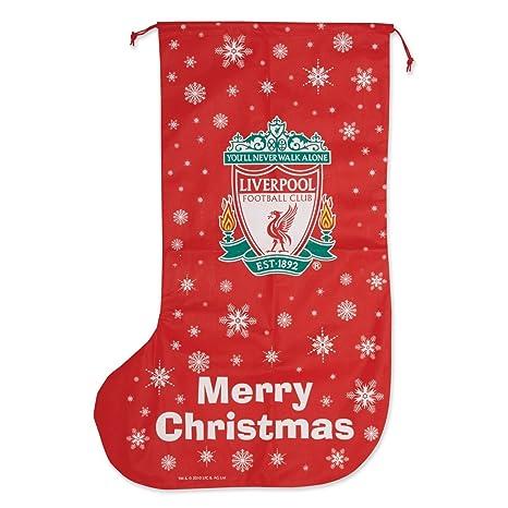Liverpool FC - Calcetín de regalos navideños Tamaño gigante - Novedad (Talla Única/Rojo