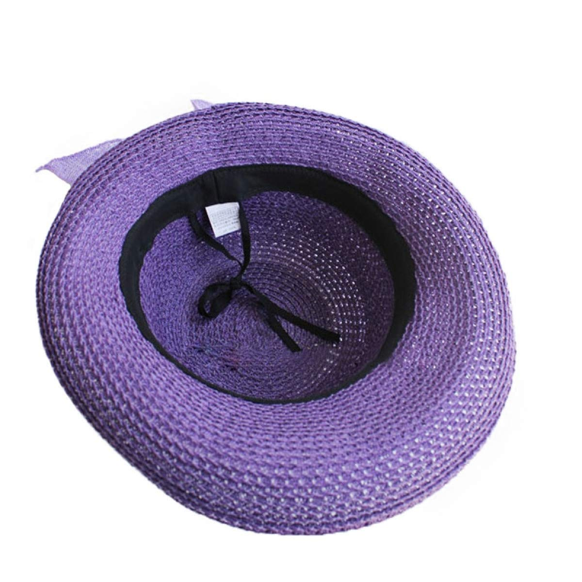 ddbe0e58b5c8a Amazon.com  WEEKEND SHOP FS Summer Sun Hats for Women Foldable 2018 Straw  Sunbonnet Wide Brim Floppy Cloche Hat Vacation Beach Style Paille Femme  Purple  ...