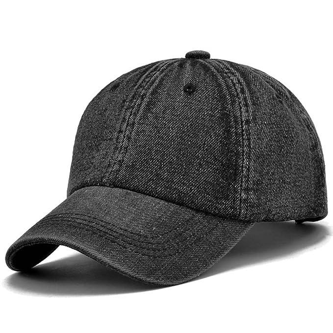 9241e4dc3cc7c Tuopuda Gorra Cap de béisbol Mezclilla Ajustable con Bordada de algodón de Estilo  Vintage Unisex (