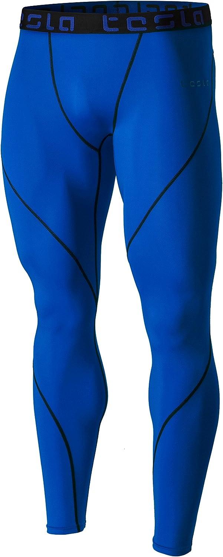 TSLA Mens Compression Pants Running Baselayer Cool Dry Sports Tights