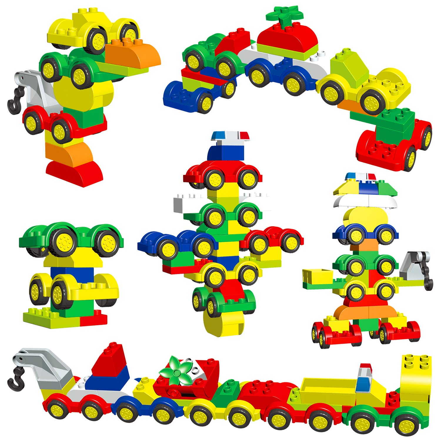 WishaLife 60 Pieces - My First Number Alphabet Train - Deluxe ABC