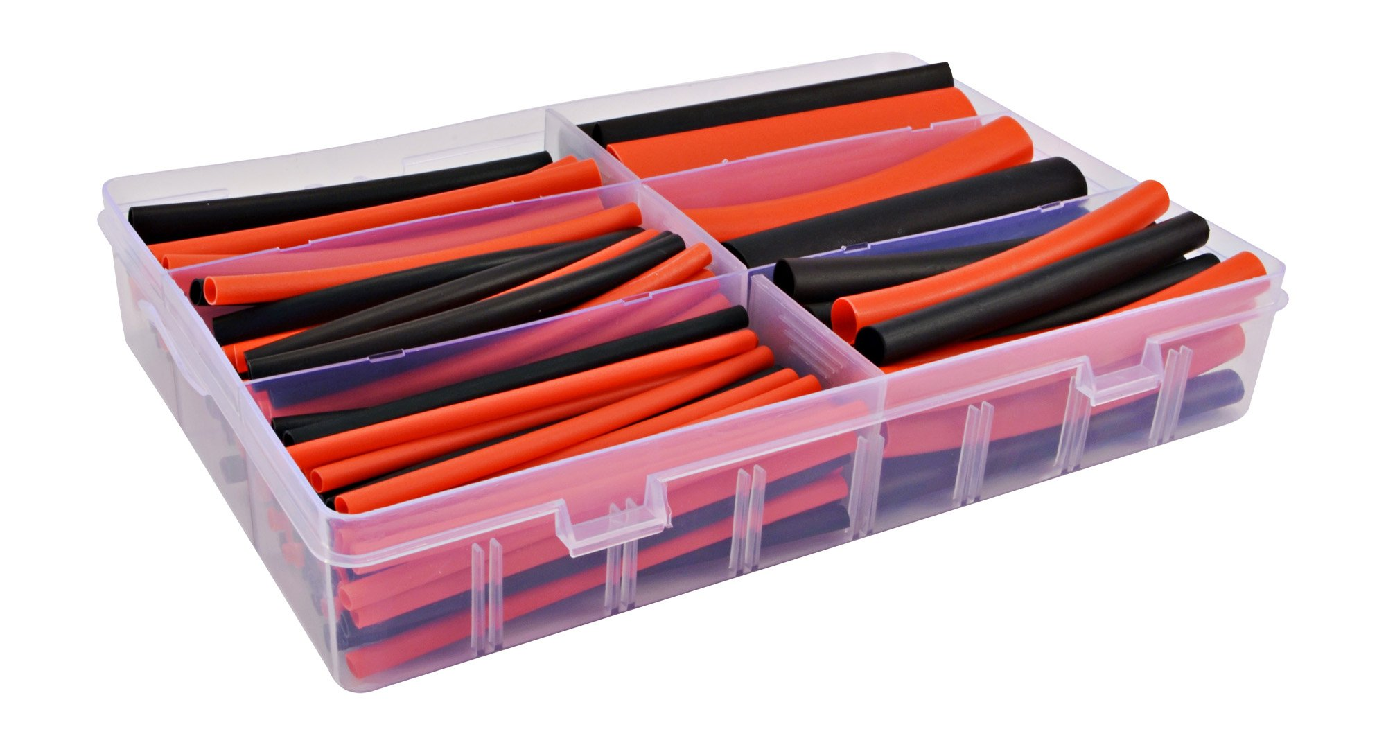 130 PC. Dual Wall Adhesive Marine Heat Shrink Kit - 3:1 Shrink Ratio - Black and Red by Simple Electric Solutions (Image #1)