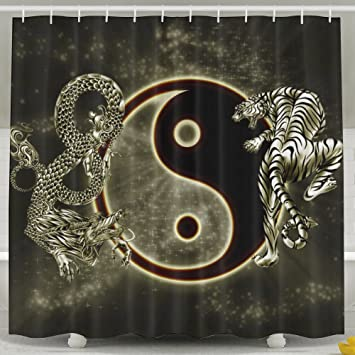 Amazon Yinyang Pattern Dragon Tiger Print Waterproof