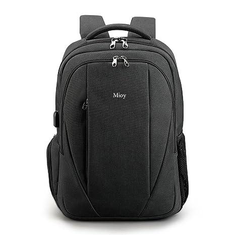 Mioy hombre Alta capacidad Antirrobo 15.6 Pulgadas Laptop backpack Tela Oxford durable Mochila de viaje de