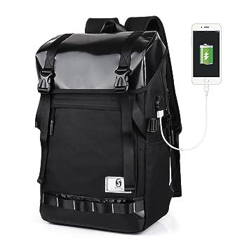 WENIG- Mochila para ordenador portátil, mochila impermeable para hombres y mujeres, informal,