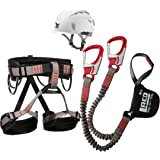 Klettersteigset LACD Ferrata Pro Evo + LACD Gurt Start + Helm Salewa Toxo