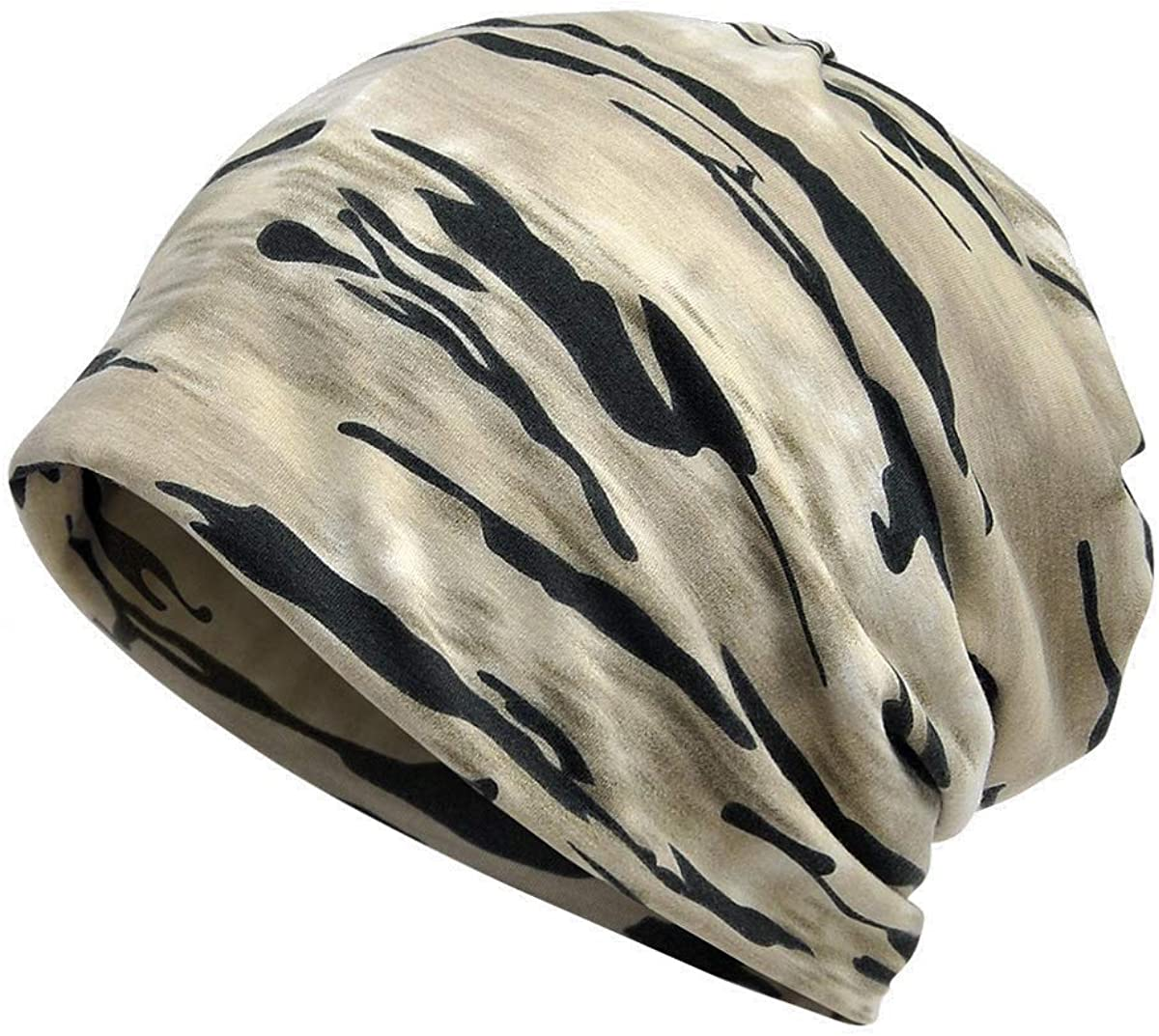 Yuzemumu Camouflage Chemo Caps Cancer Headwear Skull Cap Knitted hat Scarf for Womens Mens
