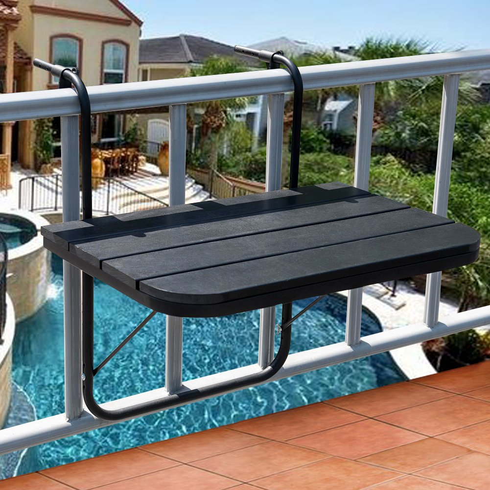Now This Is One Of The Coolest Small Balcony Furniture Ideas Yet! The  Sundale Folding Deck Table Attaches To Your Balcony Railing And Can Be  Folded Down ...