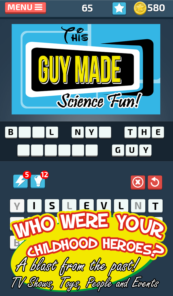 90s Puzzle - Guess the 1990s Movie, Character, Sitcom, and