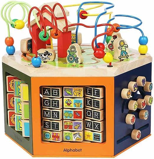 Juguetes para Bebés FEI niños de Madera Alrededor de la Caja de Bolas, Juguetes educativos, Regalos de cumpleaños del bebé Temprano Educación: Amazon.es: Jardín