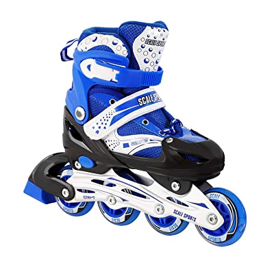 Kids Adjustable Inline Skates Outdoor Durable Perfect First Skates for Girls and Boys Illuminating Front Wheels : Sports & Outdoors [5Bkhe1904703]