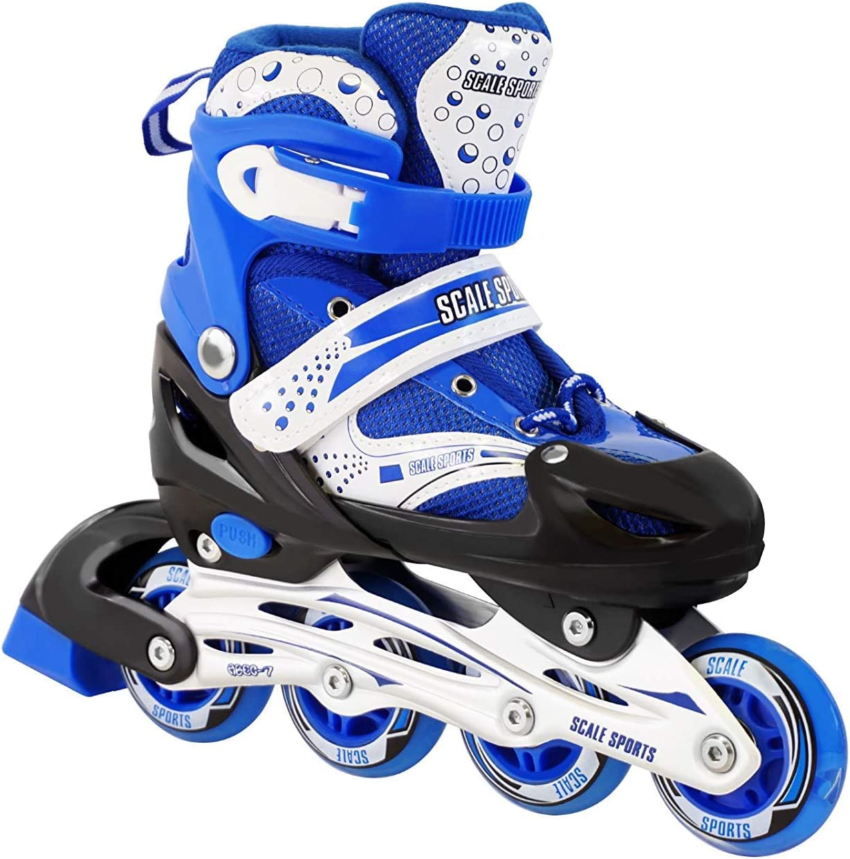 キッズ 調整可能 インラインスケート ローラーブレード スケールスポーツ アウトドア 耐久 パーフェクト ファーストスケート ブルー Large