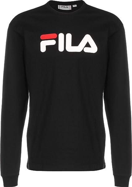 Fila T Shirt Uomo Nero Girocollo Stampa con Logo 681092