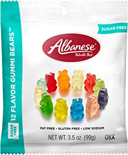 product image for Albanese World's Best Sugar Free 12 Flavor Gummi Bears 3.5oz Peg Bag, pack of 12