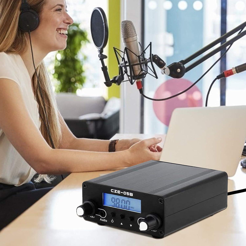 TTLIFE Transmisor FM 0.1/0.5W LCD Digital PLL Transmisión estéreo inalámbrica con Rango de Antena 76~108MHz Transmisor FM Radio con Antena para la ...