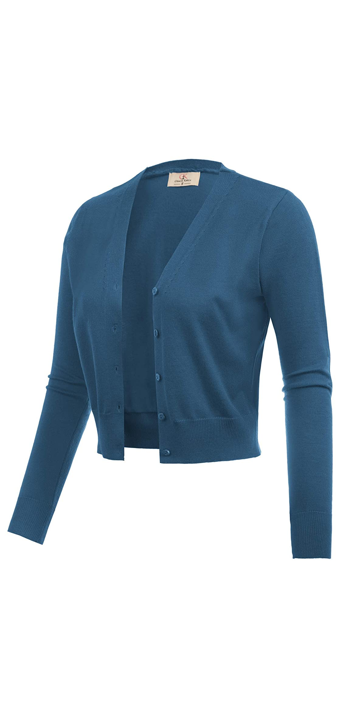 Women's Open Front Knit Cropped Bolero Shrug Sweater