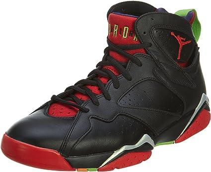 Nike Jordan Men's Air Jordan 7 Retro Blck/Unvrsty Rd/Grn Pls/Cl Gry Basketball Shoe 11 Men US