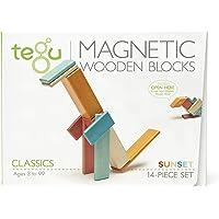Tegu Magnetic Wooden Block Set, Sunset, 14 Piece