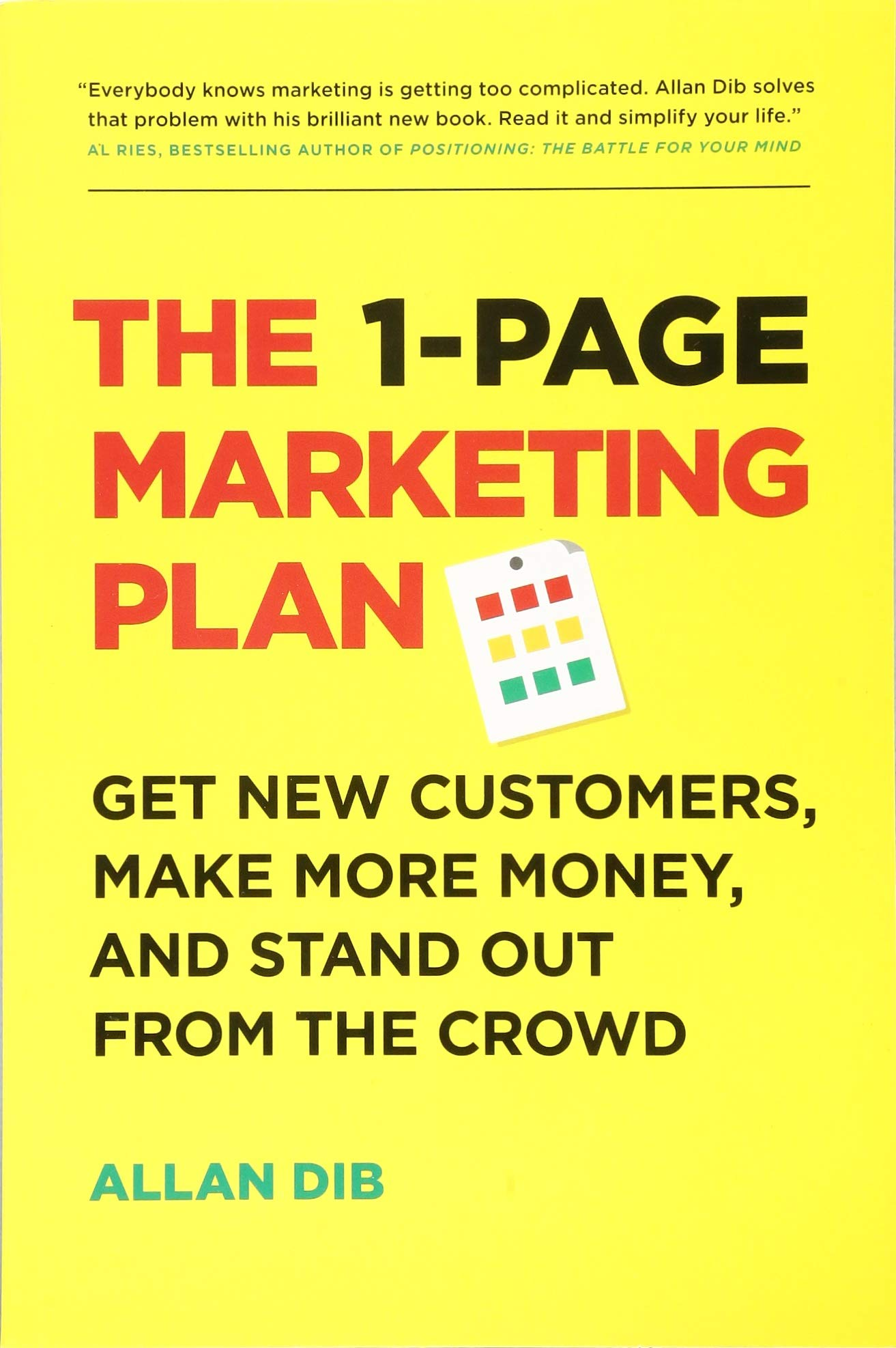1 Page Marketing Plan Customers Money product image