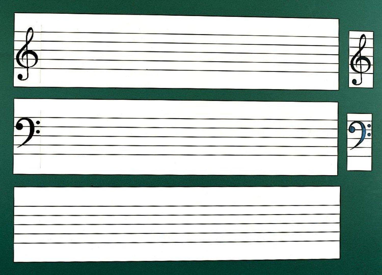 全音 ZMM-6 五線譜白板マグネットシート帯   B00DU661O0
