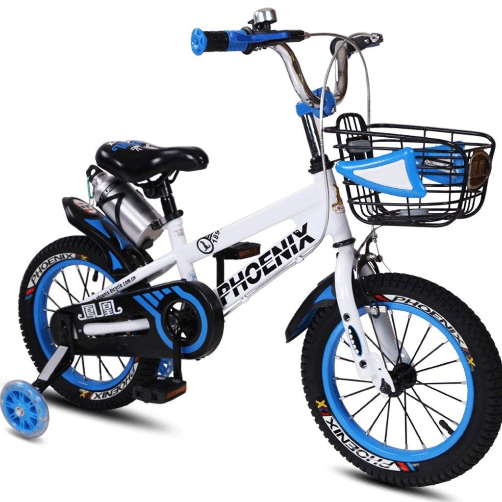 子供用自転車3~12歳のベビー用自転車男性用と女性用自転車用ベビーカー (色 : 青, サイズ さいず : 14 inches) B07D5W1DTD 14 inches|青 青 14 inches