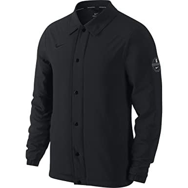 68e176b1dfae Nike Mens Kyrie Coaching Basketball Jacket Black at Amazon Men s ...